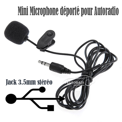 mini microphone d port pour autoradio. Black Bedroom Furniture Sets. Home Design Ideas