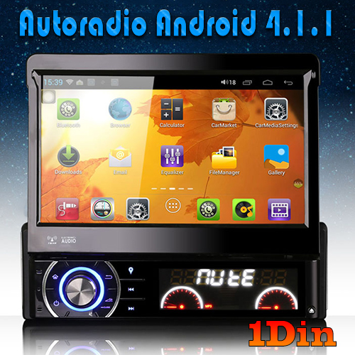 autoradio android 1din bluetooth gps. Black Bedroom Furniture Sets. Home Design Ideas