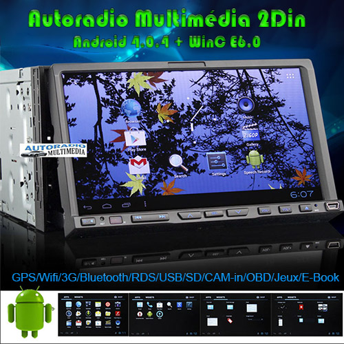 autoradio bluetooth gps 2 din double din android. Black Bedroom Furniture Sets. Home Design Ideas