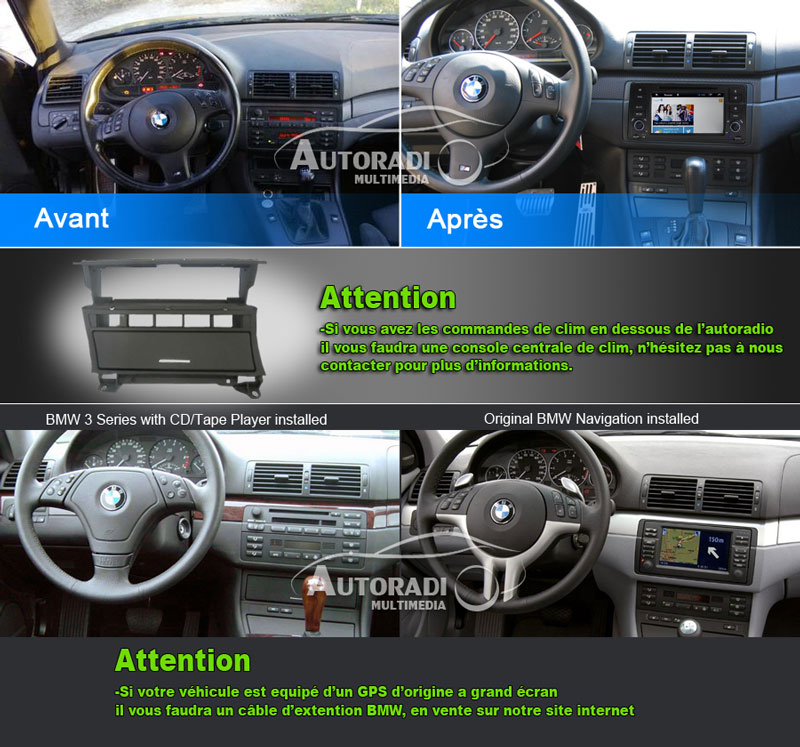 autoradio pour bmw e46. Black Bedroom Furniture Sets. Home Design Ideas