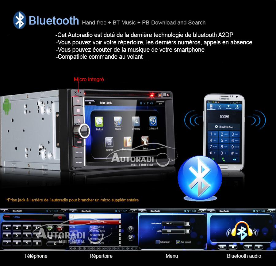 autoradio android 2din bluetooth gps. Black Bedroom Furniture Sets. Home Design Ideas