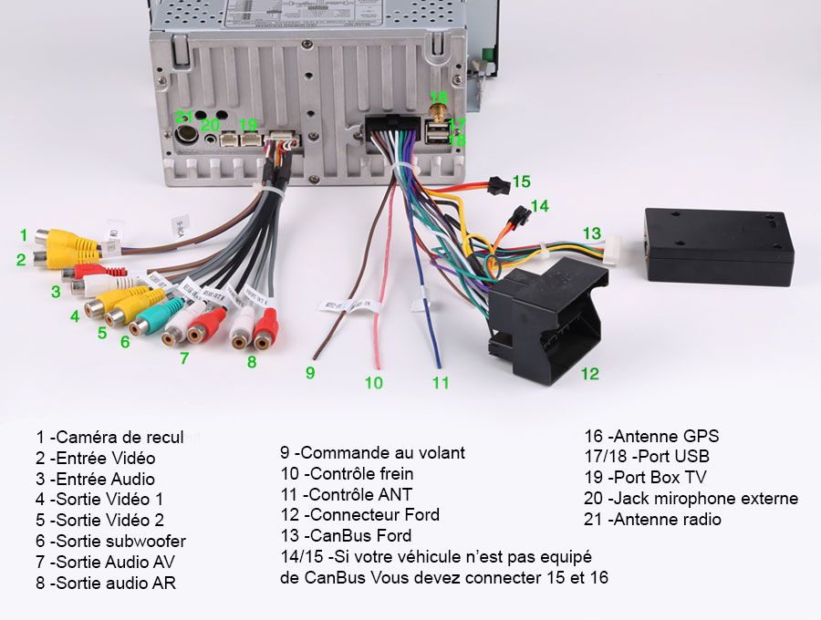 autoradio android 4 2 2 Ford Focus Speaker Wiring Colors