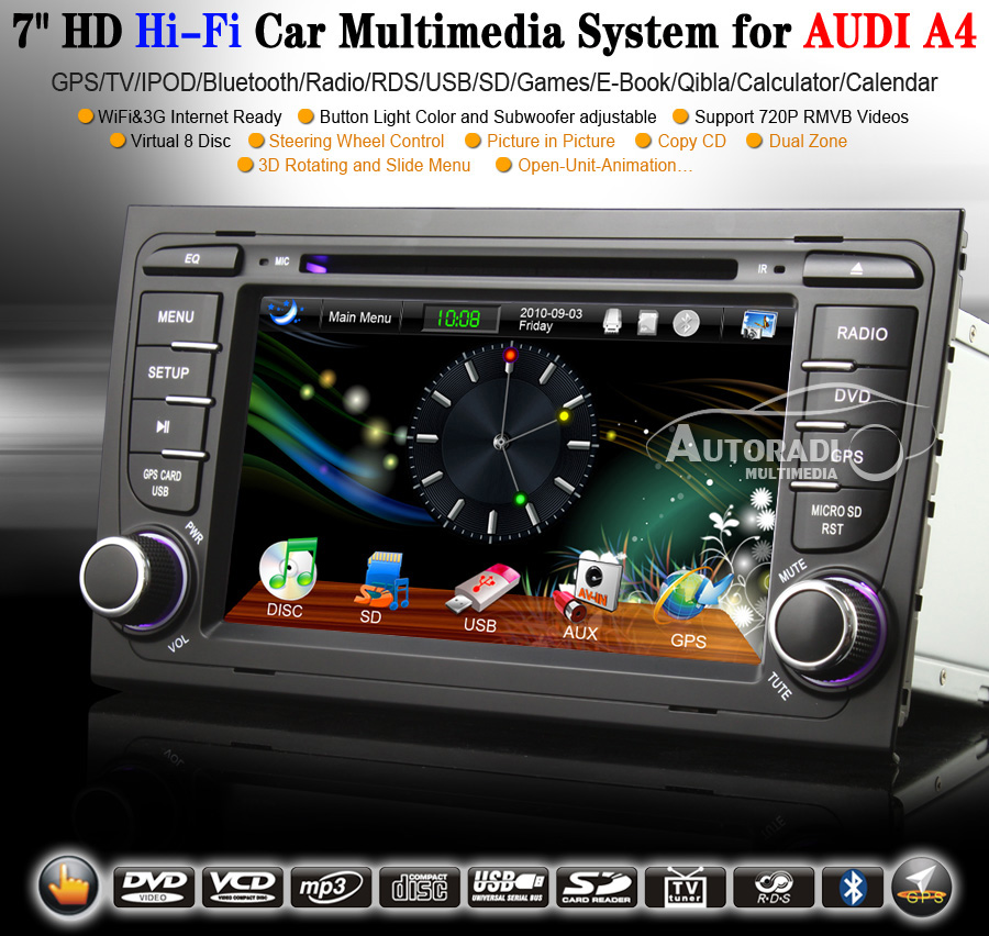 autoradio bluetooth gps. Black Bedroom Furniture Sets. Home Design Ideas