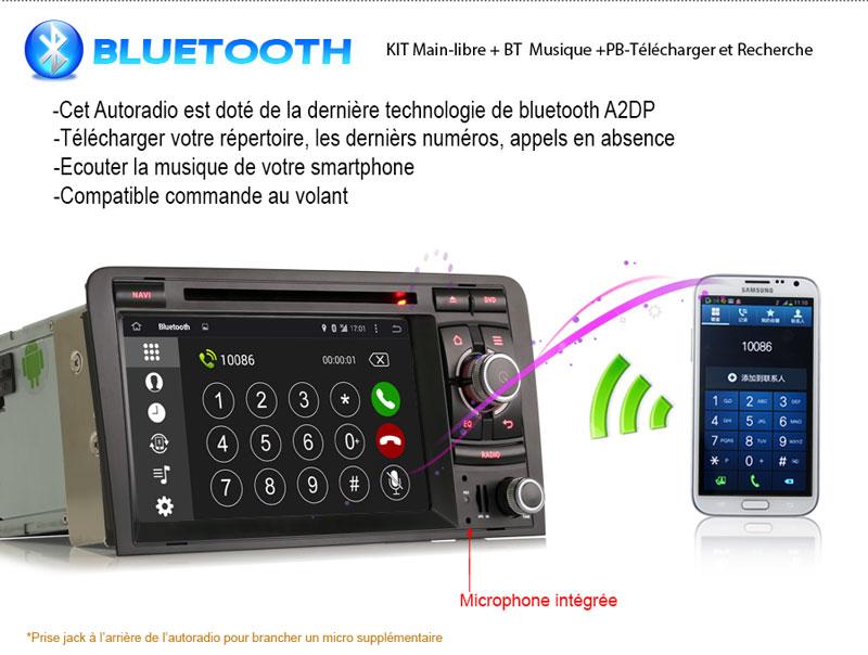 autoradio bluetooth android 4 4 4 audi. Black Bedroom Furniture Sets. Home Design Ideas